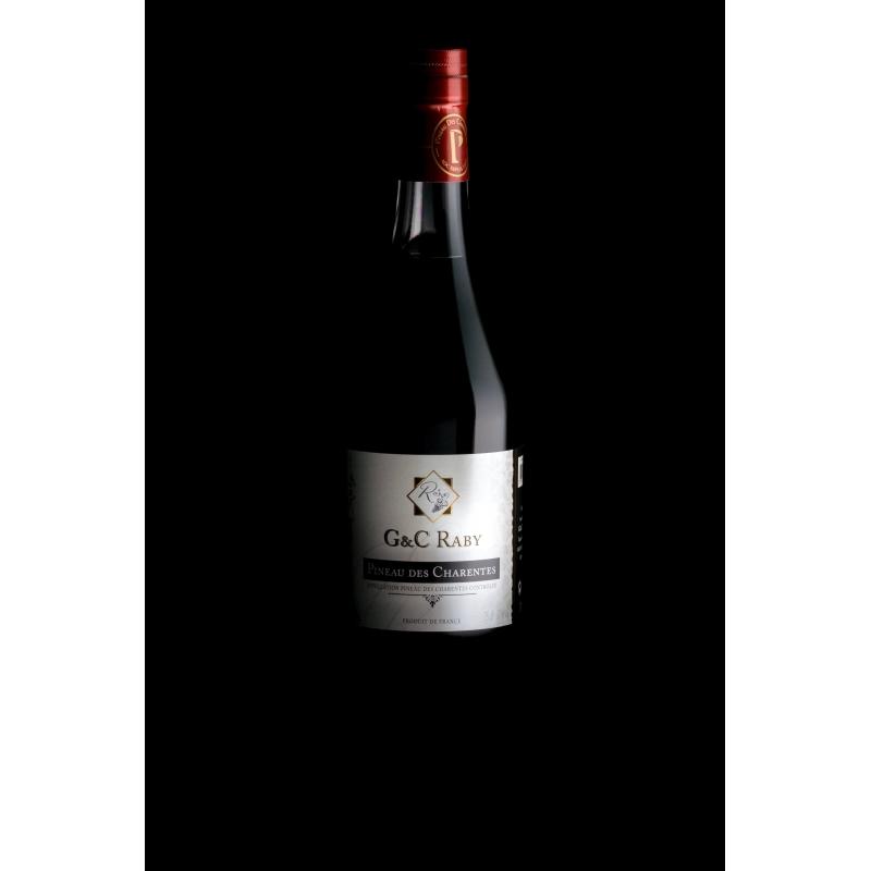 Red Pineau des Charentes Cognac G et C Raby